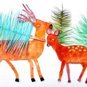 Deer and Pines